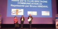 Remise du prix de la communication par Bruno Hindahl